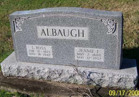 ALBAUGH, JENNIE I. - Tuscarawas County, Ohio | JENNIE I. ALBAUGH - Ohio Gravestone Photos