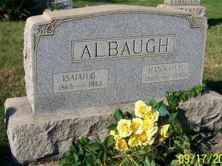 ALBAUGH, ISAIAH G. - Tuscarawas County, Ohio | ISAIAH G. ALBAUGH - Ohio Gravestone Photos