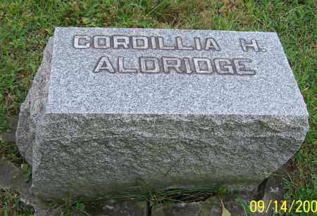 ALDRIDGE, CORDILLIA H. - Tuscarawas County, Ohio | CORDILLIA H. ALDRIDGE - Ohio Gravestone Photos