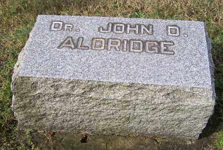 ALDRIDGE, JOHN D. - Tuscarawas County, Ohio | JOHN D. ALDRIDGE - Ohio Gravestone Photos