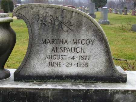 ALSPAUGH, MARTHA - Tuscarawas County, Ohio | MARTHA ALSPAUGH - Ohio Gravestone Photos