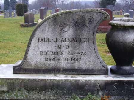 ALSPAUGH, PAUL J., MD - Tuscarawas County, Ohio | PAUL J., MD ALSPAUGH - Ohio Gravestone Photos