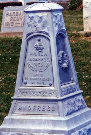 ANDEREGG, ANDREW - Tuscarawas County, Ohio | ANDREW ANDEREGG - Ohio Gravestone Photos