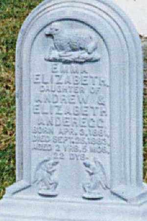 ANDEREGG, EMMA ELIZABETH - Tuscarawas County, Ohio | EMMA ELIZABETH ANDEREGG - Ohio Gravestone Photos