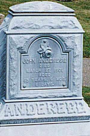 ANDEREGG, JOHN - Tuscarawas County, Ohio | JOHN ANDEREGG - Ohio Gravestone Photos