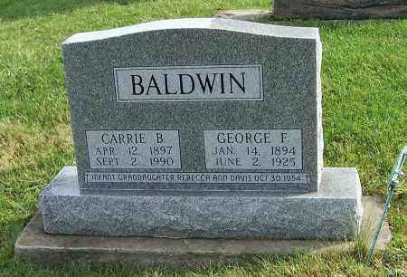 BALDWIN, CARRIE B. - Tuscarawas County, Ohio | CARRIE B. BALDWIN - Ohio Gravestone Photos