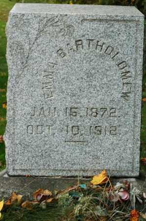BARTHOLOMEW, EMMA - Tuscarawas County, Ohio | EMMA BARTHOLOMEW - Ohio Gravestone Photos