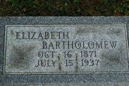 BARTHOLOMEW, ELIZABETH - Tuscarawas County, Ohio | ELIZABETH BARTHOLOMEW - Ohio Gravestone Photos
