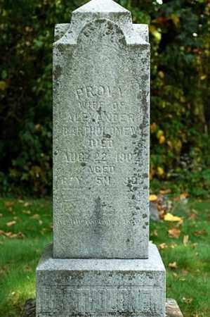 BARTHOLOMEW, PROVIDENCE - Tuscarawas County, Ohio | PROVIDENCE BARTHOLOMEW - Ohio Gravestone Photos