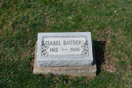 BAUDERS, ISABEL - Tuscarawas County, Ohio | ISABEL BAUDERS - Ohio Gravestone Photos