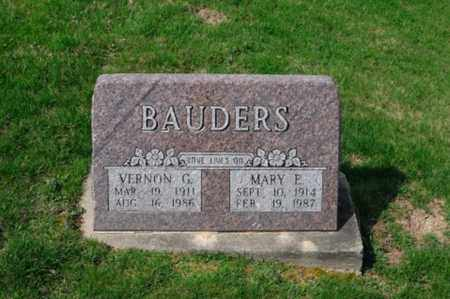 BAUDERS, VERNON G. - Tuscarawas County, Ohio | VERNON G. BAUDERS - Ohio Gravestone Photos