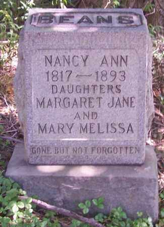 BEANS, MARY MELISSA - Tuscarawas County, Ohio | MARY MELISSA BEANS - Ohio Gravestone Photos