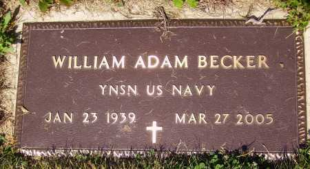 BECKER, WILLIAM ADAM - Tuscarawas County, Ohio | WILLIAM ADAM BECKER - Ohio Gravestone Photos