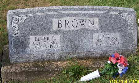 BROWN, ELMER E. - Tuscarawas County, Ohio | ELMER E. BROWN - Ohio Gravestone Photos