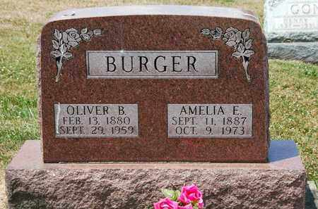 BURGER, OLIVER B. - Tuscarawas County, Ohio | OLIVER B. BURGER - Ohio Gravestone Photos