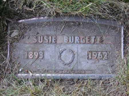 O'DONNELL BURGETT, SUSIE - FUNERAL PLATE - Tuscarawas County, Ohio | SUSIE - FUNERAL PLATE O'DONNELL BURGETT - Ohio Gravestone Photos