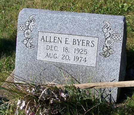 BYERS, ALLEN E. - Tuscarawas County, Ohio | ALLEN E. BYERS - Ohio Gravestone Photos