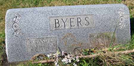 BYERS, ROLAND D. - Tuscarawas County, Ohio | ROLAND D. BYERS - Ohio Gravestone Photos