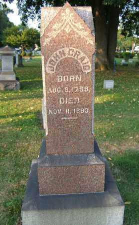 CRAIG, JOHN - Tuscarawas County, Ohio | JOHN CRAIG - Ohio Gravestone Photos