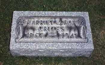 CRITES, HARRIET - Tuscarawas County, Ohio | HARRIET CRITES - Ohio Gravestone Photos