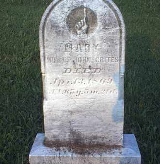 WALTERS CRITES, MARY - Tuscarawas County, Ohio | MARY WALTERS CRITES - Ohio Gravestone Photos
