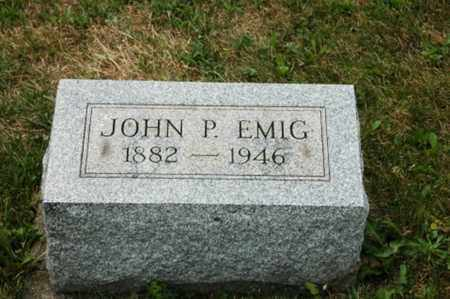 EMIG, JOHN P. - Tuscarawas County, Ohio | JOHN P. EMIG - Ohio Gravestone Photos