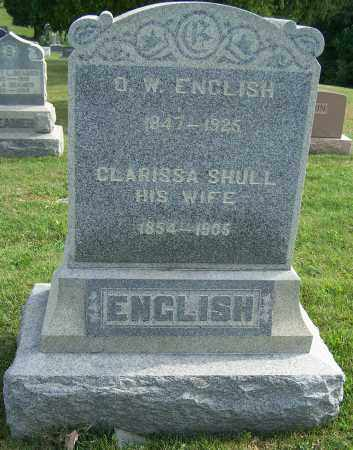 ENGLISH, CLARISSA SHULL - Tuscarawas County, Ohio | CLARISSA SHULL ENGLISH - Ohio Gravestone Photos