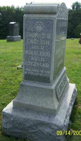 ENGLISH, THOMAS B. - Tuscarawas County, Ohio | THOMAS B. ENGLISH - Ohio Gravestone Photos