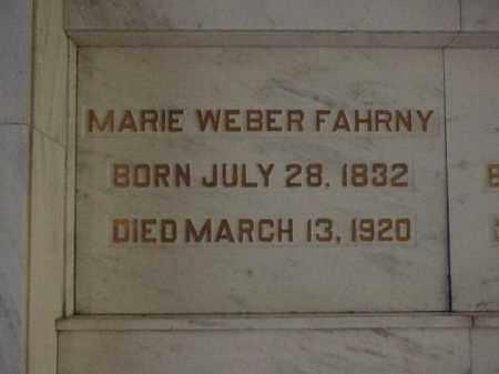 WEBER FAHRNY, MARIE - Tuscarawas County, Ohio | MARIE WEBER FAHRNY - Ohio Gravestone Photos