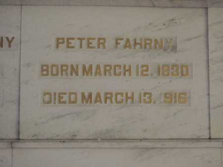 FAHRNY, PETER - Tuscarawas County, Ohio | PETER FAHRNY - Ohio Gravestone Photos