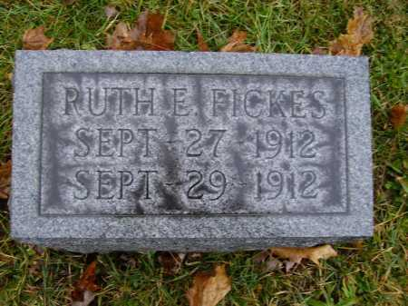 FICKES, RUTH E - Tuscarawas County, Ohio | RUTH E FICKES - Ohio Gravestone Photos