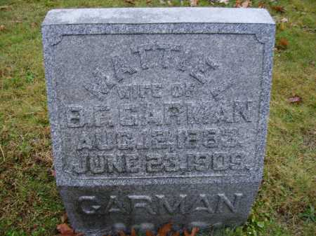 GRAHAM GARMAN, MATTIE I. - Tuscarawas County, Ohio | MATTIE I. GRAHAM GARMAN - Ohio Gravestone Photos
