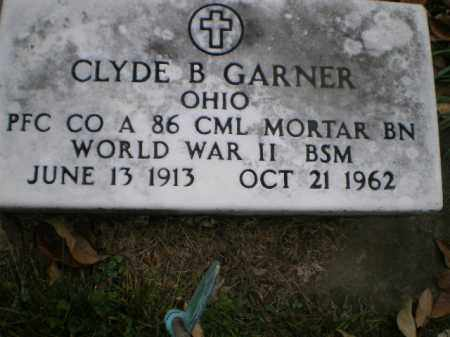 GARNER, CLYDE B - Tuscarawas County, Ohio | CLYDE B GARNER - Ohio Gravestone Photos