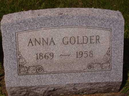 GOLDER, ANNA - Tuscarawas County, Ohio | ANNA GOLDER - Ohio Gravestone Photos