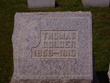 GOLDER, THOMAS - Tuscarawas County, Ohio | THOMAS GOLDER - Ohio Gravestone Photos