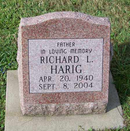 HARIG, RICHARD L. - Tuscarawas County, Ohio | RICHARD L. HARIG - Ohio Gravestone Photos