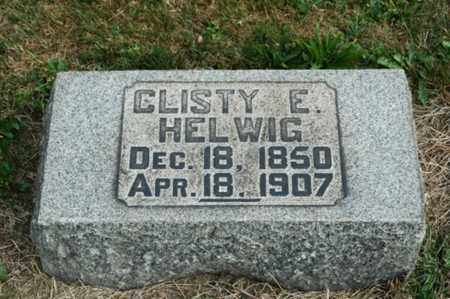 HELWIG, CLISTY E. - Tuscarawas County, Ohio | CLISTY E. HELWIG - Ohio Gravestone Photos