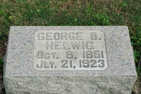 HELWIG, GEORGE BENJAMIN - Tuscarawas County, Ohio | GEORGE BENJAMIN HELWIG - Ohio Gravestone Photos