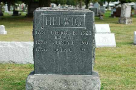 ROSENBERRY HELWIG, CLISTY E. - Tuscarawas County, Ohio | CLISTY E. ROSENBERRY HELWIG - Ohio Gravestone Photos