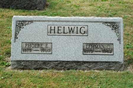HELWIG, PHOEBE ELIZABETH - Tuscarawas County, Ohio | PHOEBE ELIZABETH HELWIG - Ohio Gravestone Photos