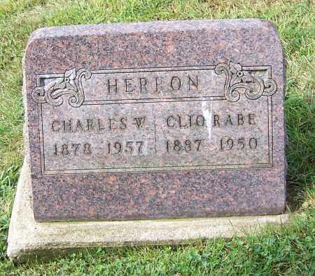 RABE HERRON, CLIO RABE - Tuscarawas County, Ohio | CLIO RABE RABE HERRON - Ohio Gravestone Photos