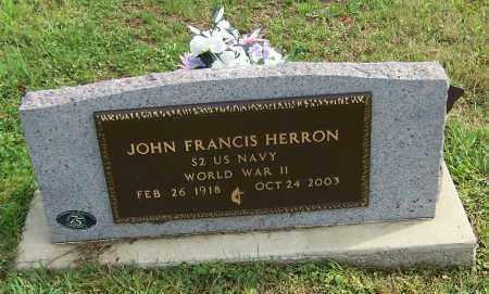 HERRON, JOHN FRANCIS - Tuscarawas County, Ohio | JOHN FRANCIS HERRON - Ohio Gravestone Photos
