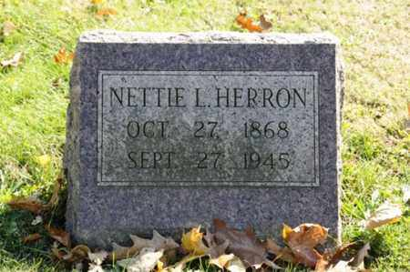 HERRON, NETTIE L. - Tuscarawas County, Ohio | NETTIE L. HERRON - Ohio Gravestone Photos