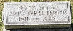 HERRON, PERCY - Tuscarawas County, Ohio | PERCY HERRON - Ohio Gravestone Photos