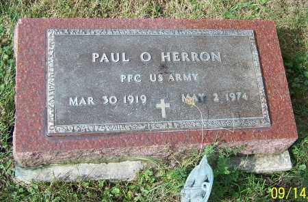 HERRON, PAUL O. - Tuscarawas County, Ohio | PAUL O. HERRON - Ohio Gravestone Photos