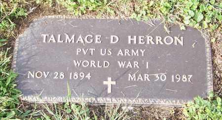 HERRON, TALMAGE D.  (MIL) - Tuscarawas County, Ohio | TALMAGE D.  (MIL) HERRON - Ohio Gravestone Photos
