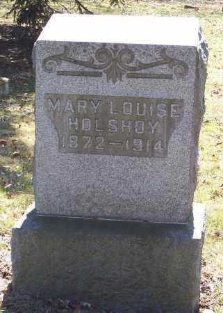 HOLSHOY, MARY LOUISE - Tuscarawas County, Ohio | MARY LOUISE HOLSHOY - Ohio Gravestone Photos