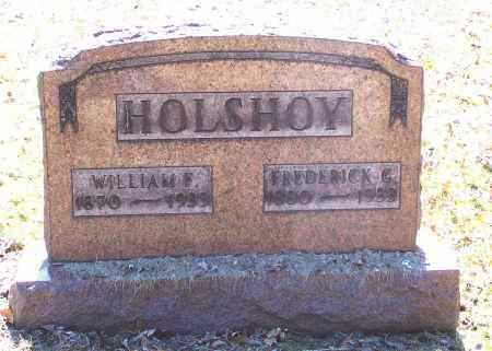HOLSHOY, WILLIAM F. - Tuscarawas County, Ohio | WILLIAM F. HOLSHOY - Ohio Gravestone Photos