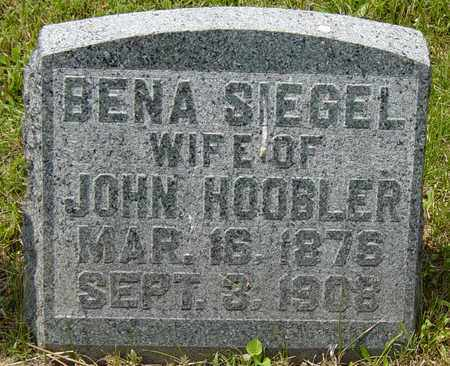 SIEGEL HOOBLER, BENA - Tuscarawas County, Ohio | BENA SIEGEL HOOBLER - Ohio Gravestone Photos