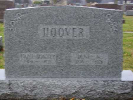HOOVER, DEWEY W. - Tuscarawas County, Ohio | DEWEY W. HOOVER - Ohio Gravestone Photos